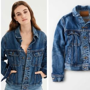 American Eagle Dark Wash 70s Style Denim Jacket